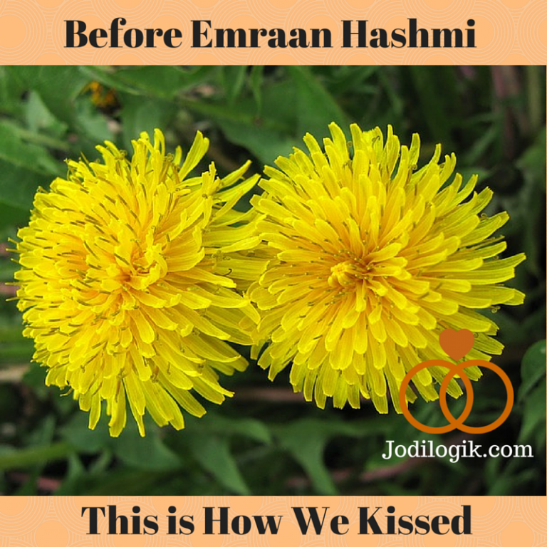 "Image showing two flowers together with the caption ""Before Emraan Hashmi, this is how we kissed"""