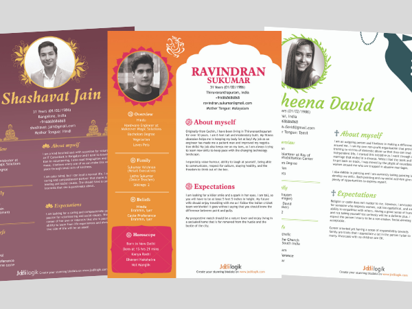 religion-themed marriage biodata templates