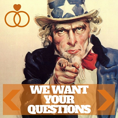 "Image showing Uncle Sam with the caption ""WE WANT YOUR QUESTIONS"""