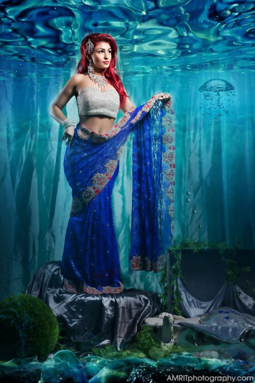 Image showing Ariel as Indian Bride