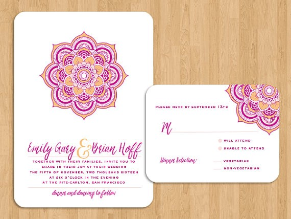 Minimalist Indian Wedding Invitation Design