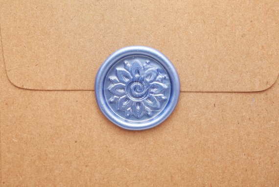 Wedding invitation with a royal seal
