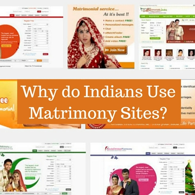Image with the caption Why do Indians Use Matrimony Sites
