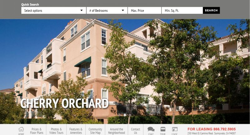 Apartment complexes in the US have their own websites