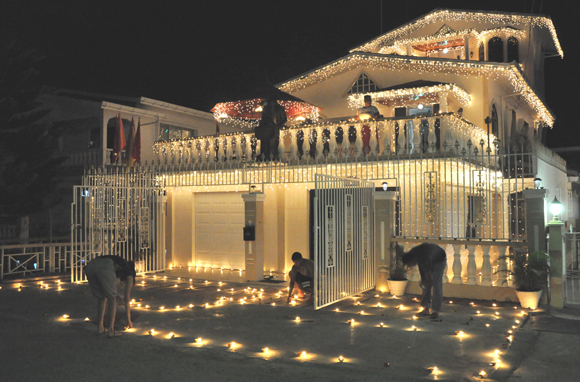Diwali celebrations in Guyana