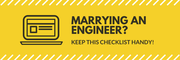 Marrying an engineer