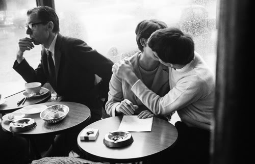 Love and Romance: Images of lovers in a coffee shop