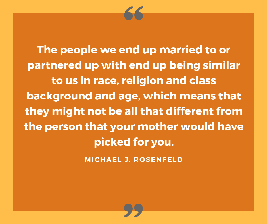 Quote on arranged marriage by Michael Rosenfeld