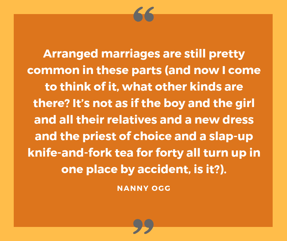 Sir Terry Pratchett on marriages