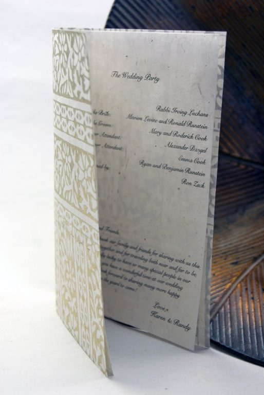 Types of wedding invitation paper