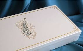 Wedding invitation card of rich people in India