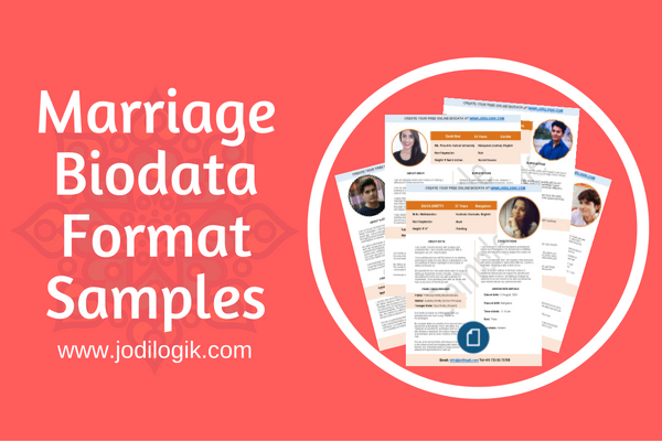 Marriage Biodata Format Samples