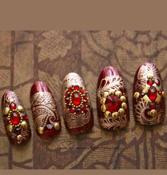 17 Cool Nail Art Designs For The Indian Bride