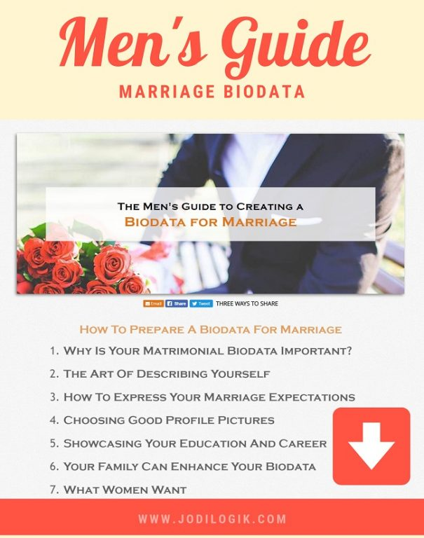 Mens Guide to creating a biodata for marriage