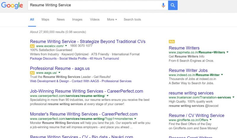 best resume writing services in bangalore