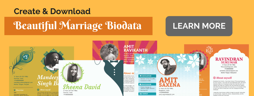 Create and download marriage biodata on Jodi Logik