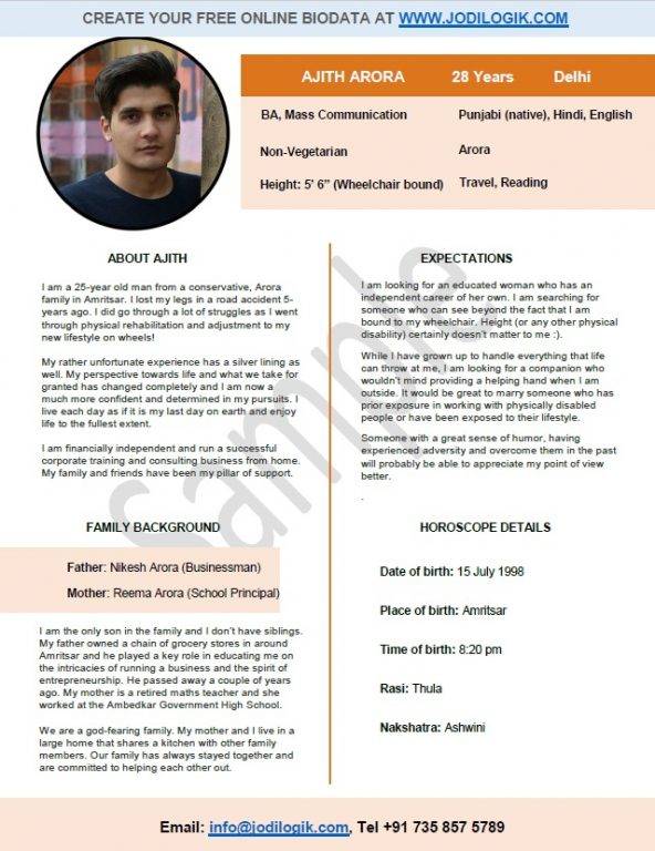 sample biology resume template