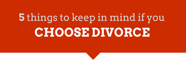 Choosing divorce after cheating
