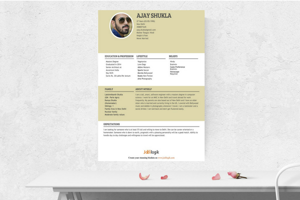 3 Easy Biodata Formats For Print And Download (With Easy Steps