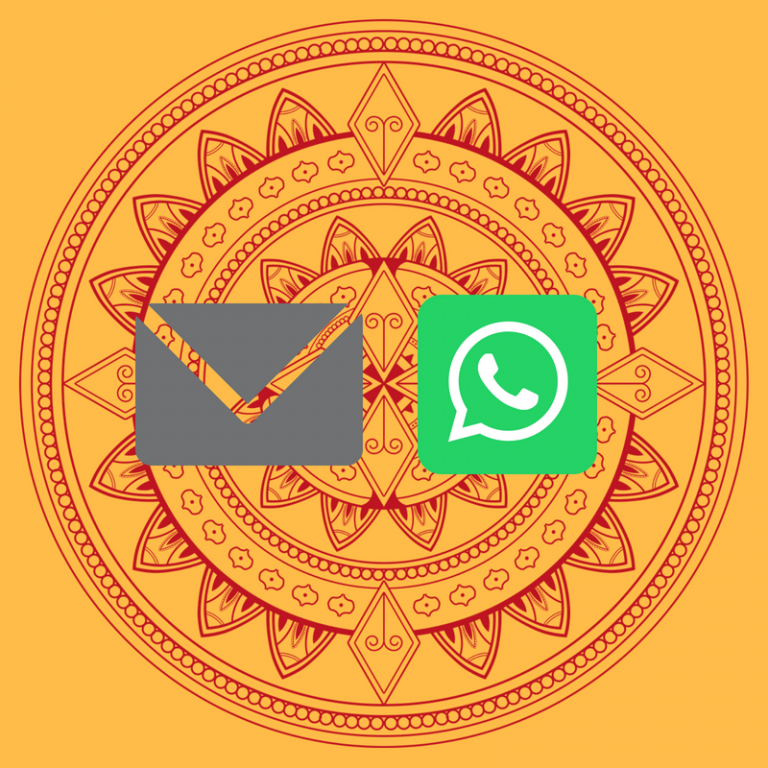 Email and WhatsApp covering note for biodata for marriage