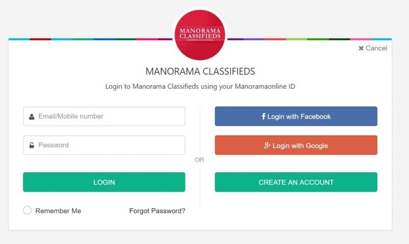 Sign up for a malayala manorama account