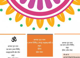 Marriage Biodata in Hindi Formats